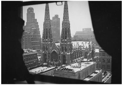 New York City St Patrick's Cathedral Window Archival Photo Poster Print