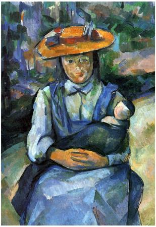 Paul Cezanne Girl with Doll Art Print Poster