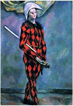 Paul Cezanne Harlequin Art Print Poster