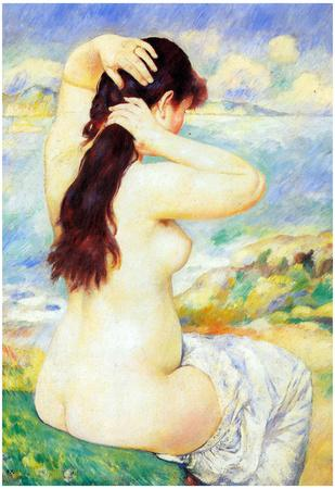Pierre Auguste Renoir A Bather Art Print Poster