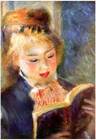 Pierre Auguste Renoir A Reading Girl 2 Art Print Poster