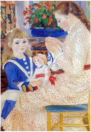 Pierre Auguste Renoir Children in the Afternoon in Wargemont Detail Art Print Poster