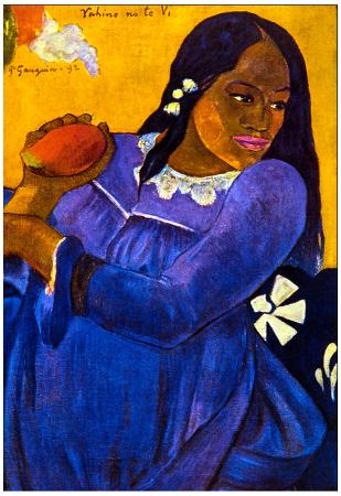 Paul Gauguin Woman with Mango Art Print Poster
