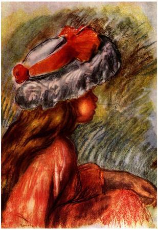 Pierre Auguste Renoir Girl's Head Art Print Poster