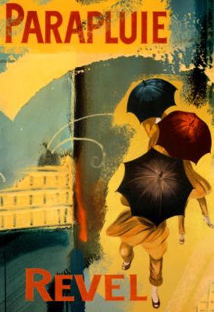 Parapluie Revel Abstract Art Print Poster