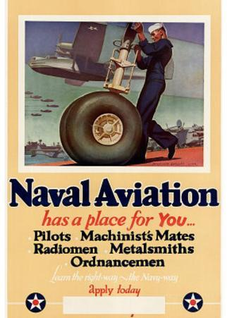 Naval Aviation Has a Place for You WWII War Propaganda Art Print Poster