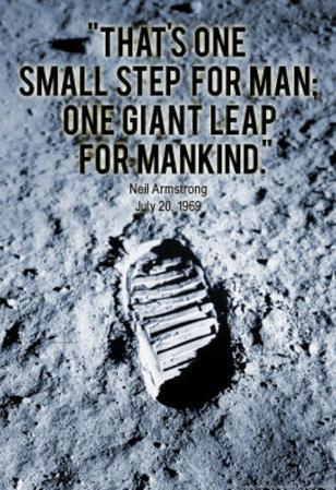 Neil Armstrong One Small Step 1969 Archival Photo Poster Print