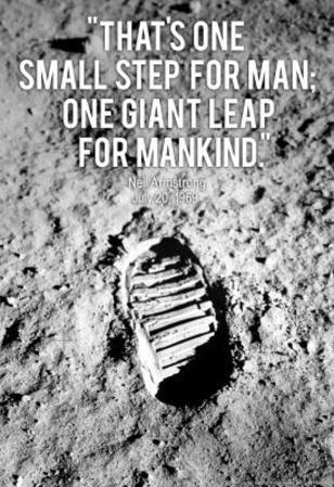 Neil Armstrong One Small Step Archival Photo Poster Print