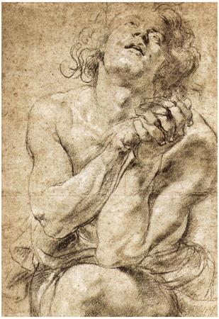 Peter Paul Rubens Study of Daniel in the Lions Den Art Print Poster