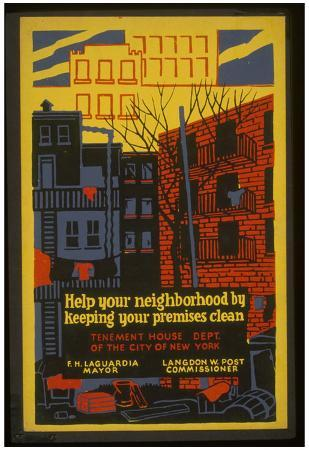 New York City (Keep Your Neighborhood Clean) Art Poster Print