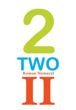 Number 2 Sign with Roman Numeral Banner Poster