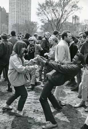 New York City Central Park People Dancing Archival Photo Poster Print
