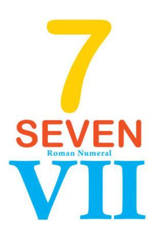 Number 7 Sign with Roman Numeral Banner Poster