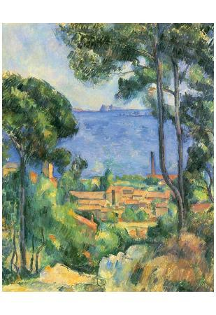 Paul Cezanne (View of L'Estaque and Chateaux d'If (The Sea at L'Estaque)) Art Poster Print