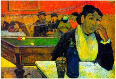Paul Gauguin Madame Ginoux in Cafe Art Print Poster
