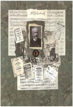 Peter Ilyich Tchaikovsky composer Art Print Poster
