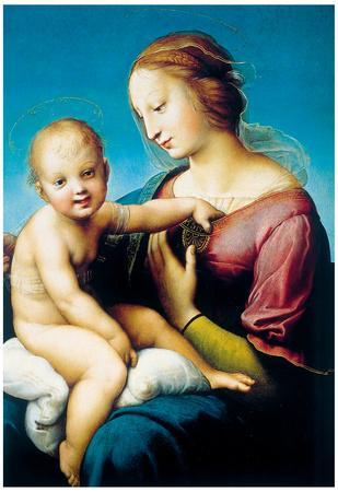 Raphael Madonna Cowper Art Print Poster