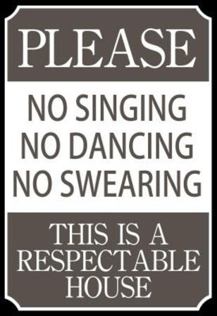 Respectable House Sign Poster