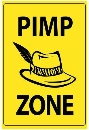 Pimp Zone Sign Print Poster