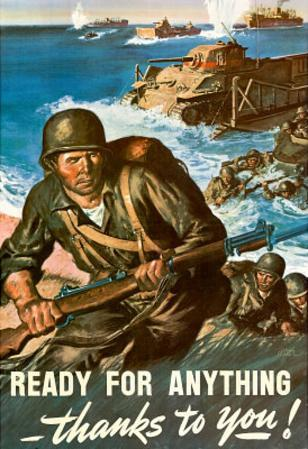 Ready for Anything Thanks to You WWII War Propaganda Art Print Poster