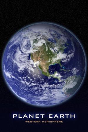Planet Earth Western Hemisphere Art Print Poster