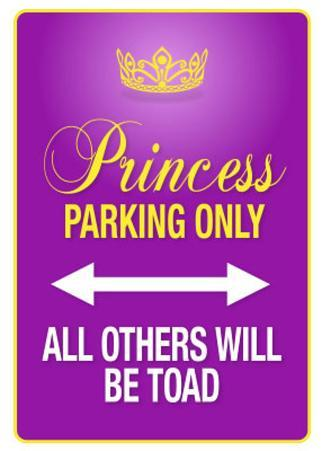 Princess Parking Only Purple Poster Sign