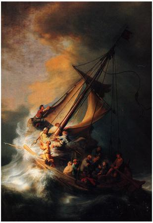 Rembrandt Christ in the Storm on the Lake Genezareth Art Print Poster