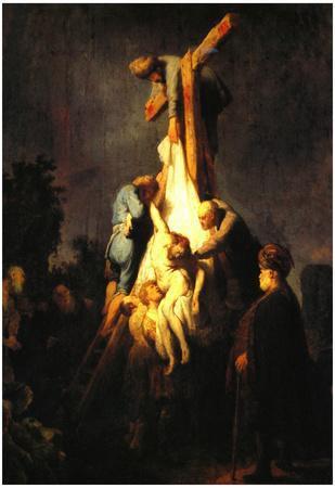 Rembrandt Crucifixion Art Print Poster