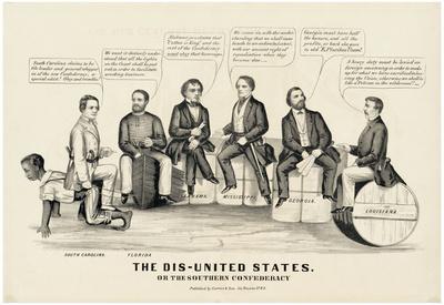 The Dis-United States Political Cartoon Art Print Poster