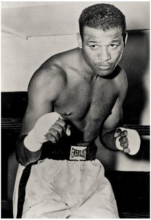 Sugar Ray Robinson Boxing Pose Archival Photo Sports Poster Print