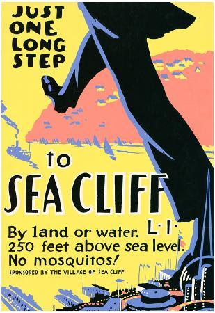 Sea Cliff Long Island NY Tourism Travel Vintage Ad Poster Print