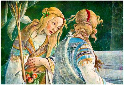 Sandro Botticelli Sistine Chapel The Youth of Moses Detail 2 Art Print Poster