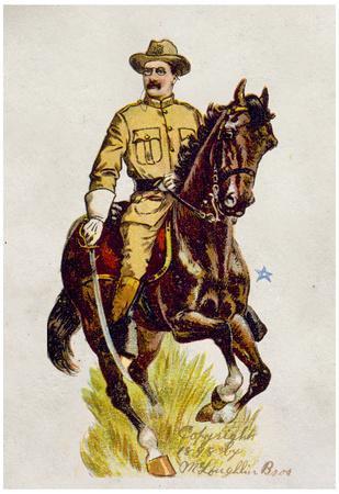 Rough Rider Theodore Roosevelt 1898 Historical Art Print Poster
