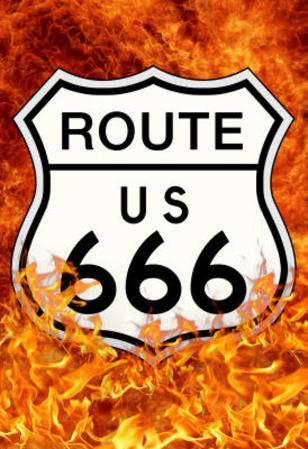 Route 666 Highway to Hell Poster Print