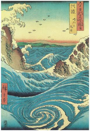 Utagawa Hiroshige - Naruto Rapids,