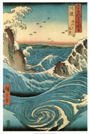 Utagawa Hiroshige (Navaro Rapids) Art Poster Print