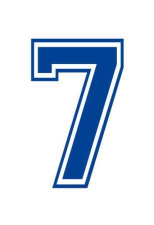 Varsity Number 7 (Seven) Make Your Own Banner Sign Poster