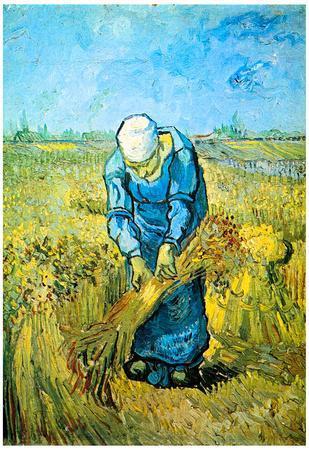 Vincent Van Gogh Farm Worker Art Print Poster