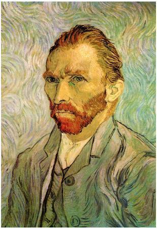 Vincent Van Gogh Self Portrait 1 Art Poster Print