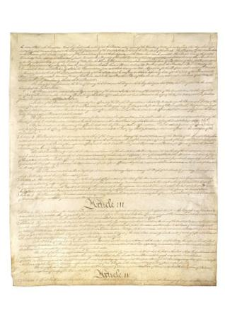 U.S. Constitution Page 3 Art Poster Print