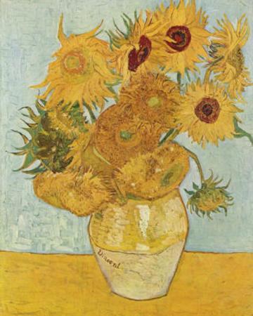 Vincent Van Gogh Vase with Twelve Sunflowers Painting Art Poster
