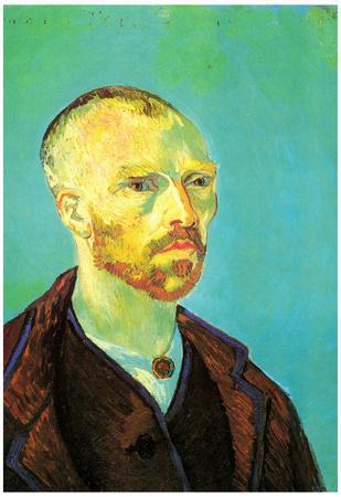 Vincent Van Gogh Self-Portrait Dedicated to Paul Gauguin Art Print Poster