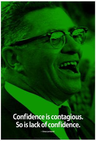 Vince Lombardi Confidence iNspire Quote Poster