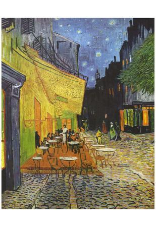 Vincent Van Gogh (Cafe Terrace at Night) Art Poster Print