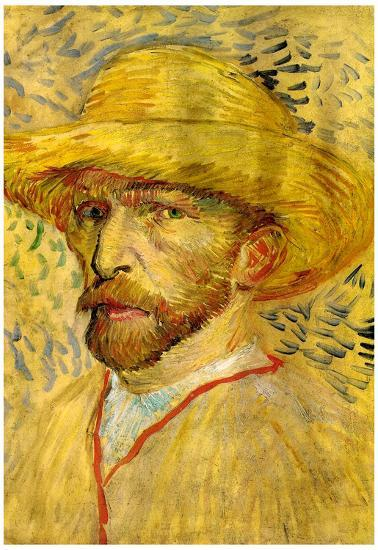 c3b23941a42 Vincent Van Gogh Self-Portrait with Straw Hat 2 Art Print Poster Prints at  AllPosters.com