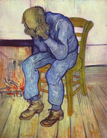 Vincent Van Gogh (Old Man in Sorrow, or On the Threshold of Eternity) Art Poster Print