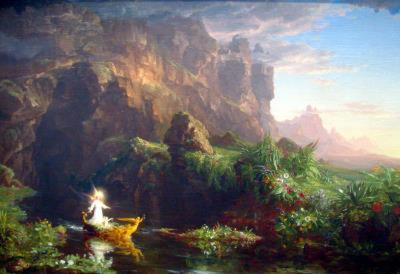 Thomas Cole The Voyage of Life  Childhood Art Print Poster