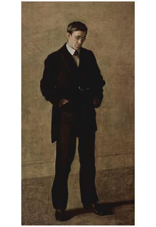 Thomas Eakins (The Thinker Portrait of Louis N. Kenton) Art Poster Print