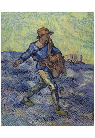 Vincent Van Gogh (The Sower) Art Poster Print