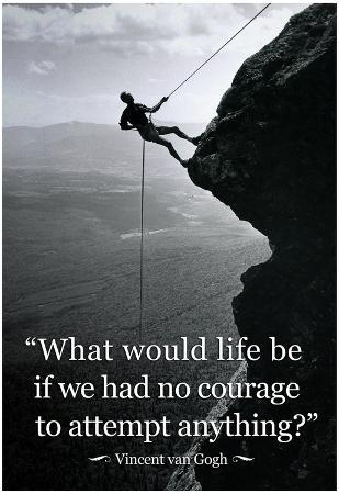 Vincent Van Gogh Life Courage Motivational Quote Archival Photo Poster